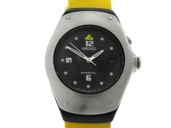f44a3183af5 Relógio Seiko Kinetic - Caixa em aço - Pulseira em borracha - Tamanho da  caixa 33mm - Funções  Horas