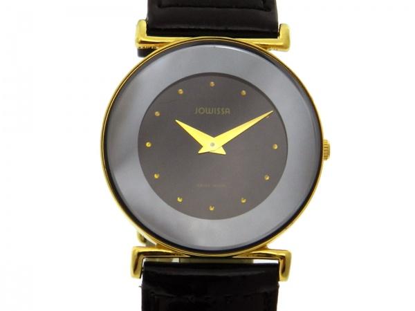 2ce995357f0 Relógio Jowissa - Caixa em aço com plaque de ouro e pulseira em couro -  Tamanho da caixa 30mm - Funções  Horas e Minutos - Movimento quartz - Visor  .