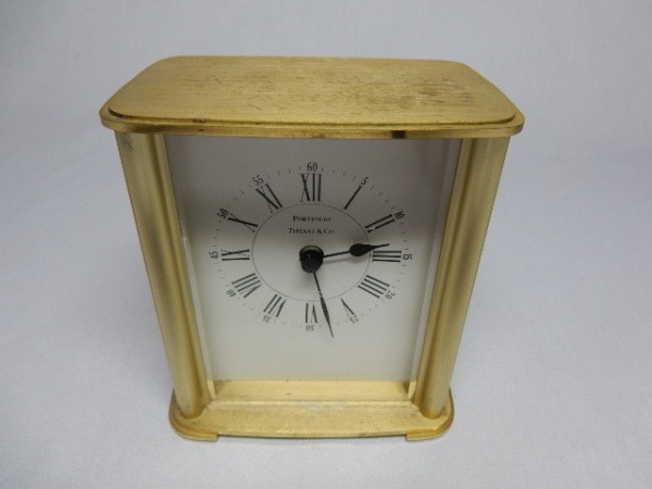 9f0ae9c7bea TIFFANY   CO - Relógio de mesa com linda caixa em bronz
