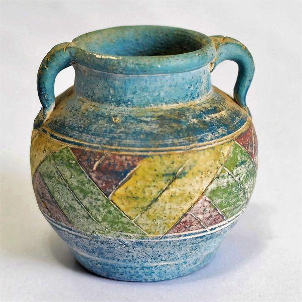 Mini Vaso Em Pedra Sabao Pintado E Colorido Desenhos Ge