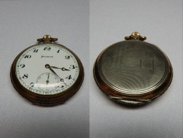 9ff967e4391 SWISS HELVETIA - Belíssimo relógio com linda caixa em prata de lei e ouro