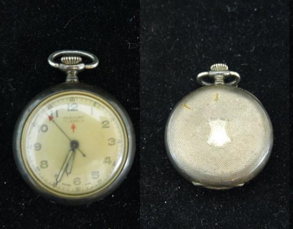 6e0f66e95d9 MERCURY SWISS - Raro relógio de bolso em prata de lei teor 925 com rico .