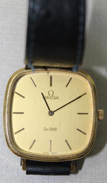 b103392d531 Relógio Omega - Pulseira de couro - De Ville - Tamanho