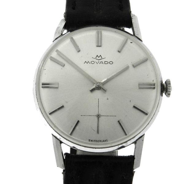 80235b2db45 Relógio Movado Classic Vintage - Caixa em aço - Pulseira em couro - Tamanho  da caixa 33mm - Funções  Horas