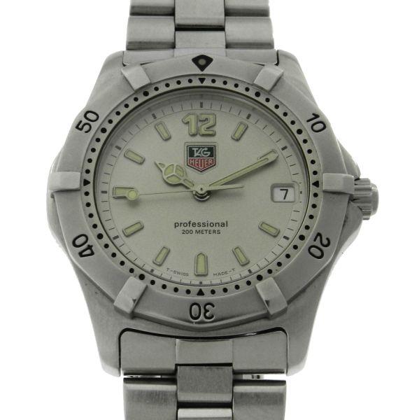 91b164e7b0b Relógio Tag Heuer Série 2000 - Caixa e pulseira em aço - Tamanho da caixa  37mm - Funções  Horas