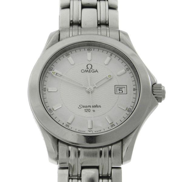 4e33c1d9316 Relógio Omega Seamaster - Caixa e pulseira em aço - Tamanho da caixa 36.5mm  - Funções  Horas