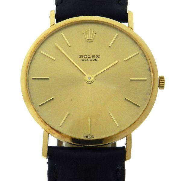 cb208a3c52d Relógio Rolex Cellini - Caixa em ouro 18k - Pulseira em couro - Tamanho da  caixa 31mm - Funções  Horas e Minutos - Movimento à corda manual - Visor em  ...