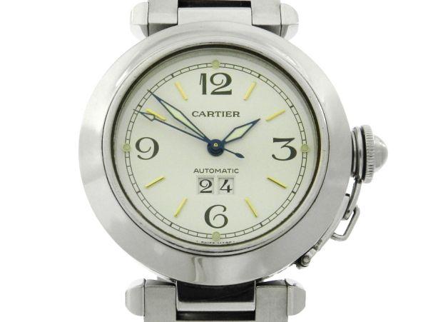 d08f408173d Relógio Cartier Pasha Big Date Automatic - Caixa e pulseira aço - Tamanho  da caixa 35mm - Funções  Horas