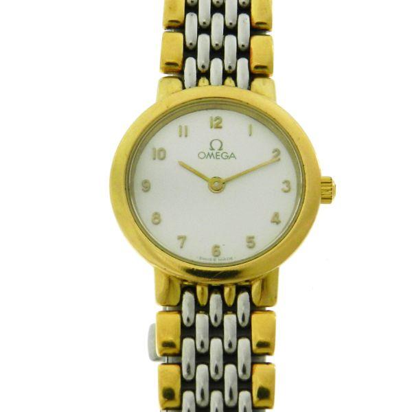 f42cbbcde36 Relógio Omega De Ville - Caixa e pulseira em aço e ouro - Tamanho da caixa   .