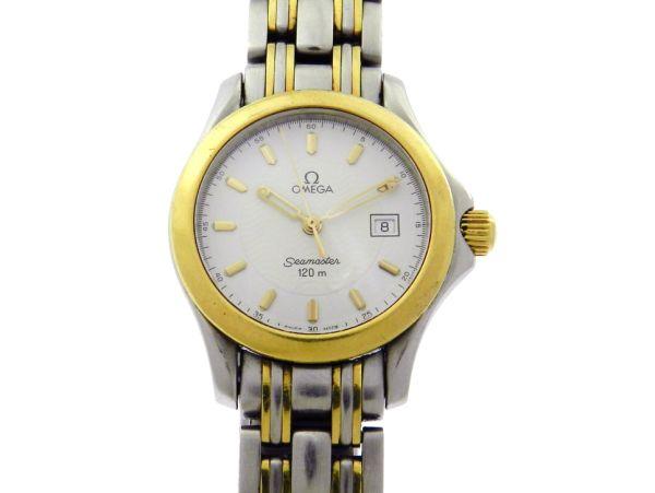 234eebeb6b4 Relógio Omega Seamaster - Caixa e pulseira em aço e ouro - Tamanho da caixa  28.5mm - Funções  Horas
