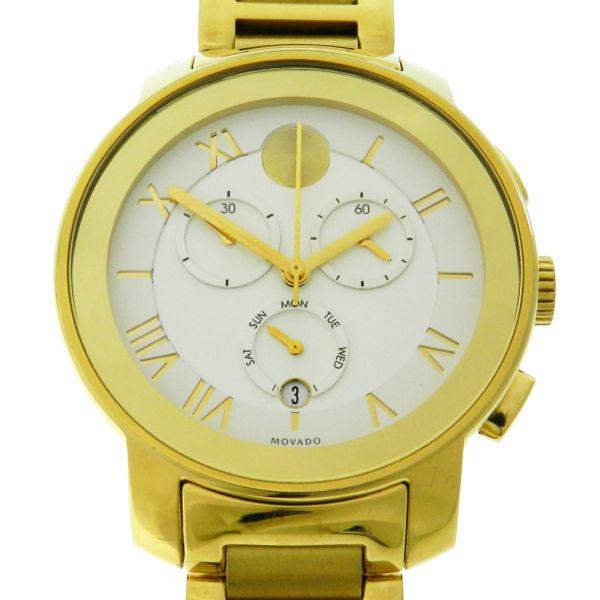 55906ca8721 Relógio Movado Bold Chronograph Yellow Gold - Caixa e pulseira em aço com  plaque em ouro amarelo - Tamanho da caixa 40mm - Funções  Horas