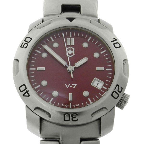f278837ade0 Relógio VictorInox Swiss Army V7-20 Sub - Racer - Caixa e pulseira em aço -  Tamanho da caixa  38mm - Funções  Horas