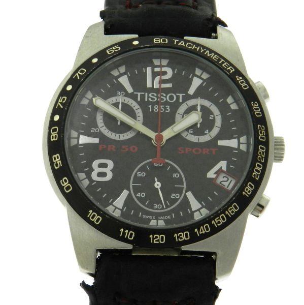 34b1ffb5460 Relógio Tissot PR50 Sport Nascar Chronograph - Serie Limitada - Caixa em aço  - Pulseira em couro - Tamanho da caixa 38mm - Funções  Horas