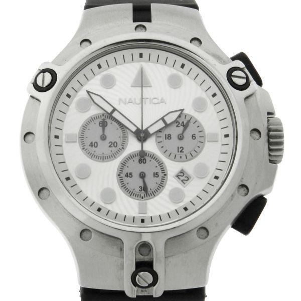 c6aaf88eaa2 Relógio Nautica - Caixa em aço e Pulseira em borracha - Tamanho Da Caixa  45mm - Funções  Horas