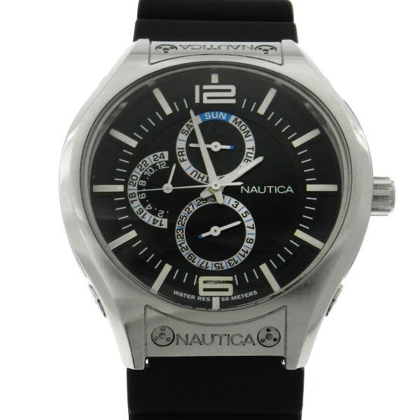 5bf335b9d79 Relógio Nautica - Caixa em aço - Pulseira em borracha - Tamanho da caixa  45.5mm - Funções  Horas