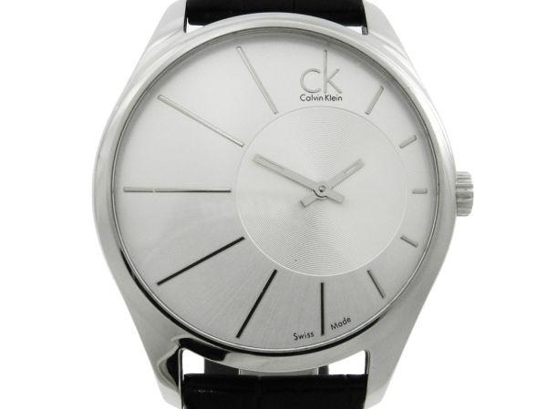5c9b9257f8a Relógio Calvin Klein - Caixa em aço - Pulseira em couroi - Tamanho da caixa  44mm - Funções  Horas e Minutos - Movimento quartz - Visor em cristal .