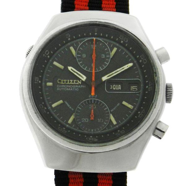 9964381b2c6 Relógio Citizen Chronograph Automatic - Caixa em aço - Pulseira em nylon  militar NATO - Tamanho da caixa 38mm - Funções  Horas