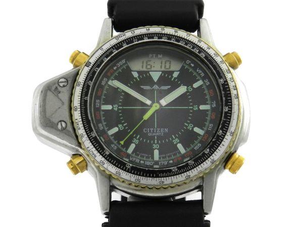 e53919310ce Relógio Citizen Aerochron C046 - Caixa em aço e pulseira em borracha -  Tamanho da caixa 50mm - Funções  Horas