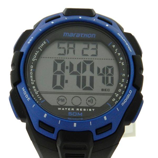 2ccb9ee537b Relógio Timex Marathon - Caixa e pulseira em borracha - Tamanho da caixa  43.5mm - Funções  Horas