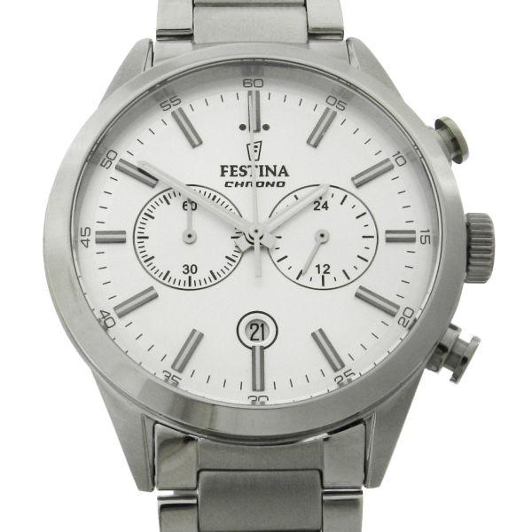 103e277940a Relógio Festina Chronograph - Caixa e pulseira em aço - Tamanho da caixa   43.6mm - Funções  Horas