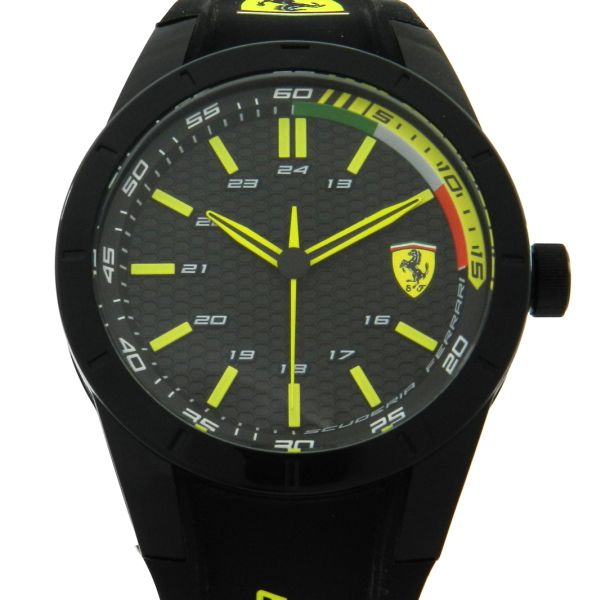 15c76183cbe Relógio Scuderia Ferrari - Caixa em polímero - Pulseira em borracha -  Tamanho da caixa  43.5mm - Funções  Horas