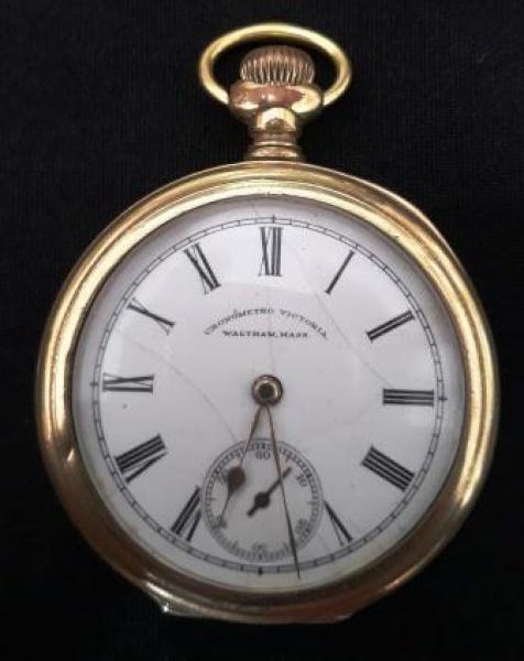 ec6d38b640c WALTHAM USA - CRONOMETRO VICTORIA Antigo relógio de bolso em ouro sólido  teor .