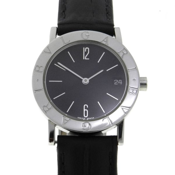 f54586bb02e Relógio Bulgari Bvlgari - Caixa em aço - Pulseira em couro - Tamanho da  caixa 30mm - Funções  Horas