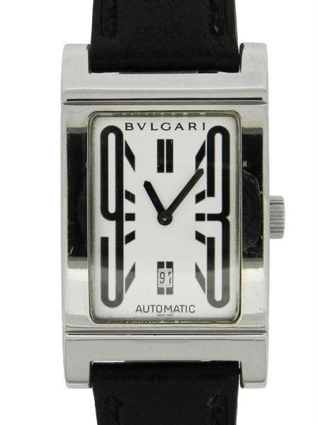 4de7ced90c1 Relógio Bulgari Rettangolo - Caixa em aço e pulseira em couro - Tamanho da  caixa 26mm x 45mm. Funções  Horas