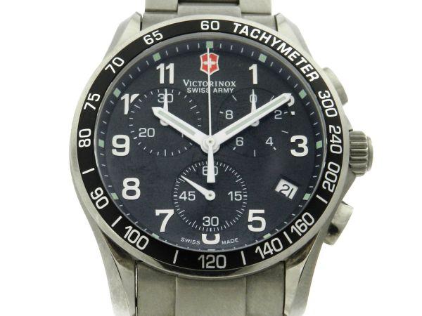 6105dc60179 Relógio VictorInox Swiss Army Classic Cronógrafo Titanium - Caixa e pulseira  em titânio - Tamanho da caixa 41mm - Funções  Horas