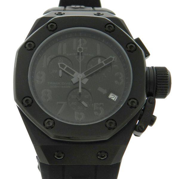 5625faa52e6 Relógio Swiss Legend Trimix Diver Chronograph - Caixa em aço com tratamento  PVD preto - Pulseira em borracha -Tamanho da Caixa 44mm - Funções  Horas