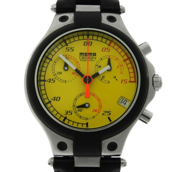 4b4fe48932c Relógio Momo Design Speed MD 014 Chronograph - Caixa em aço e fibra de  carbono - Pulseira em couro Tamanho da caixa  39mm - Funções  Horas