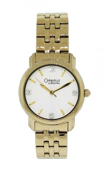 751e3aefdc9 BULOVA - Impecável relógio feminino Bulova Caravelle modelo Diamond 44 L  113 com belíssima caixa de 32 mm