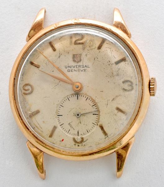 8a629100c81 Relógio de pulso de caixa de ouro 750 m. Universal Gene