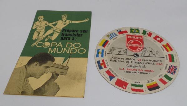 Futebol - 2 Tabela de jogo da Copa de 1962 - Estão marcadas 7f832c8ba71b1