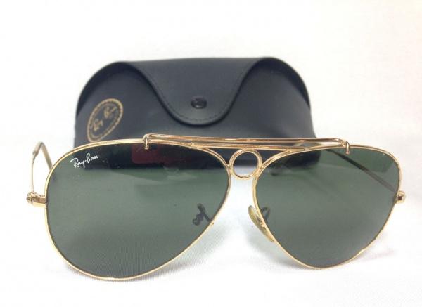 0c87cafac2daf RAY BAN - Antigo óculos de sol italiano modelo aviador,