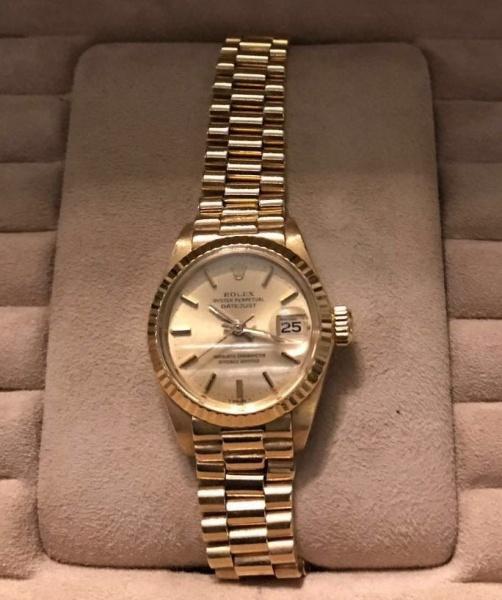002e382c33f Rolex- Relógio Rolex feminino todo em ouro 18 klts modelo Day Date  Presidente