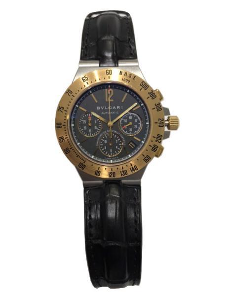 a2dcb8cb288 Relógio BVLGARI - Diagono Professional - Automático - Caixa em aço e ouro  18k - 42 mm - Pulseira de couro Original - ANO 2008 - 1 ano de garantia.