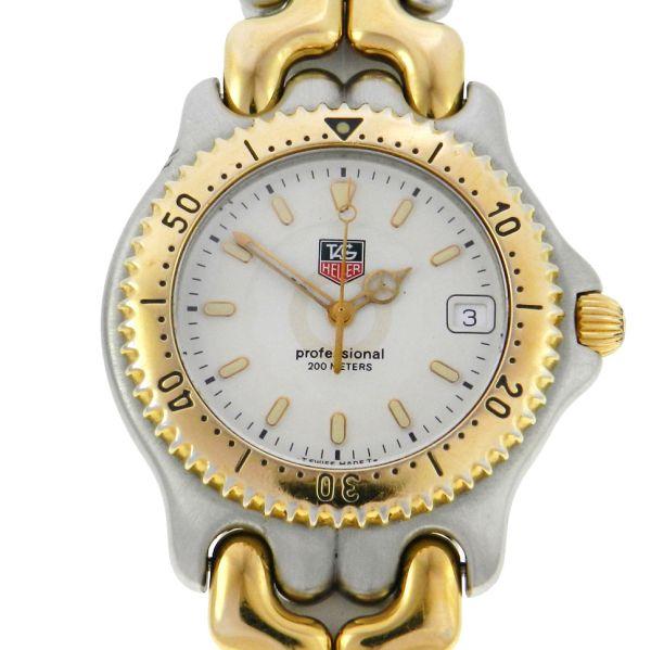 27f181b6e03 Relógio Tag Heuer Sport Elegance - Caixa e pulseira em aço e plaque de ouro  - Tamanho da caixa 38mm - Funções  Horas