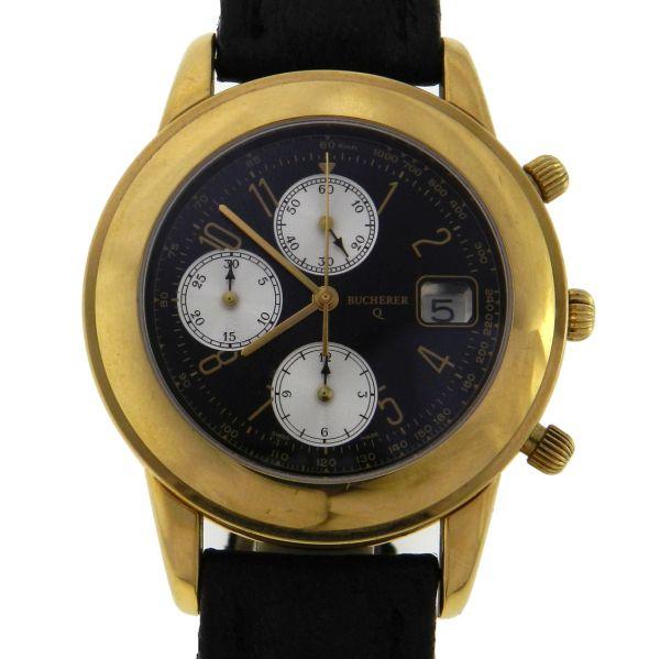 029eb12e1b7 Relógio Bucherer - Caixa em aço com plaque de ouro - Pulseira em couro -  Tamanho da caixa 41mm ( Sem contar garras ou coroa) - Funções  Horas