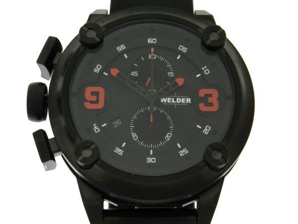 f63ed8dc178 Relógio Welder K-28 Chronograph - Caixa em aço com tratamento em PVD preto  e pulseira em borracha - Tamanho da caixa 50mm - Funções  Horas