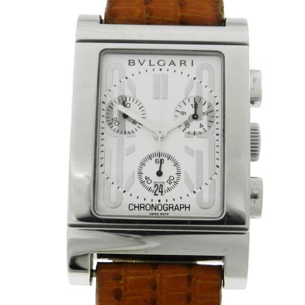 8a83f6a89cd Relógio Bulgari Rettangolo Chronograph - Caixa em aço - Pulseira em couro -  Tamanho da caixa 29mm x 40mm (Sem contar garras ou coroa) - Funções  Horas