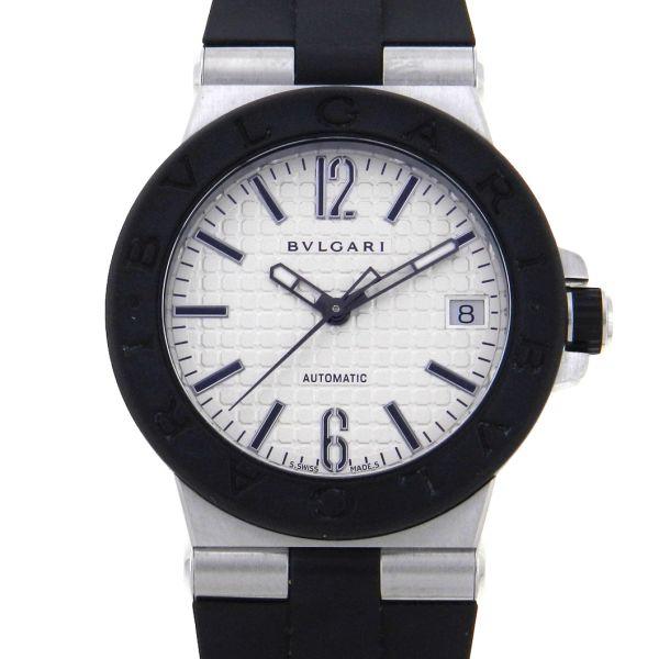 fdb2ed35b30 Relógio Bulgari Bvlgari Diagono - Caixa em aço - Pulseira em borracha -  Tamanho da caixa  35mm - Funções  Horas