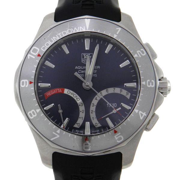 8b69ec18540 Relógio Tag Heuer Aquaracer Calibre S Regatta - Caixa em aço - Pulseira em  borracha- Tamanho da caixa 41mm - Funções  Horas