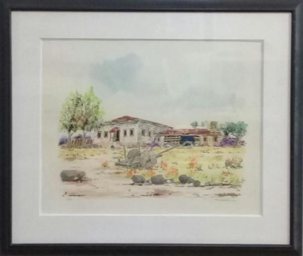 ASSINATURA ILEGÍVEL, gravura, representando paisagem, medindo 42 x 53 cm.