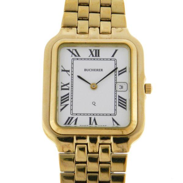 0e82bdf833f Relógio Bucherer Classic Bracelet - Caixa e pulseira em aço com plaque de  ouro - Tamanho da caixa 28.5mm x 36mm - Funções  Horas