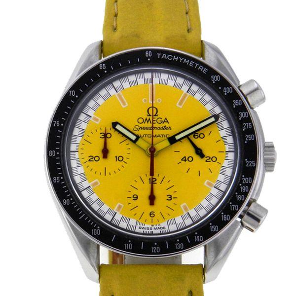 b52ccedc4db Relógio Omega Speedmaster - Michael Schumacher - Caixa em aço - Pulseira em  couro - Tamanho da caixa 38mm - Funções  Horas