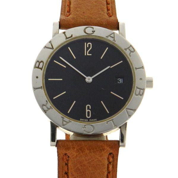 a8127ff4a0e Relógio Bulgari Bvlgari - Caixa em aço - Pulseira em couro - Tamanho da  caixa  33mm - Funções  Horas