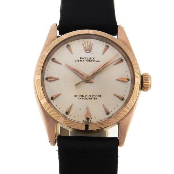 db229a1f8c9 Relógio Rolex Oyster Perpetual - Caixa em ouro rosa 18k 750 - Pulseira em  couro - Tamanho da caixa  31mm - Funções  Horas