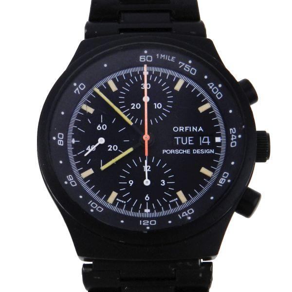 5ed41224cb8 Relógio Porsche Design - Orfina - Chronograph - Orfina 5100 - Caixa e  pulseira em aço com tratamento PVD - Tamanho da caixa 41mm - Funções   Horas