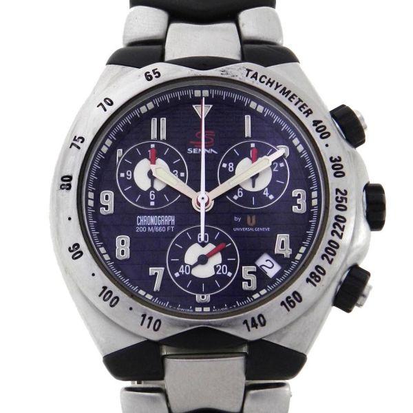 b4e0bdd2711 Relógio Universal Geneve Senna Chronograph - Caixa e pulseira em aço e  fibra de carbono - Tamanho da caixa  41mm - Funções  Horas